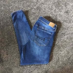 American Eagle super stretch skinny jeans distress